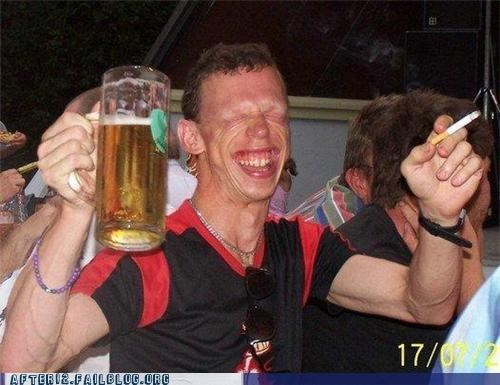 beer cigarette drunk face Party weird wtf - 4552495872
