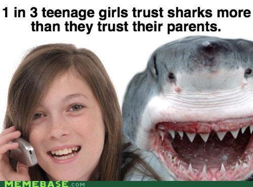 sharks,teenage girls