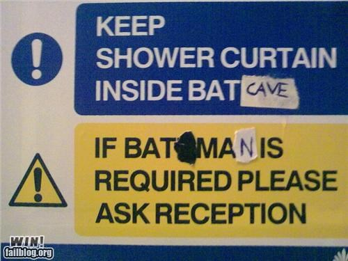 batman hacked nerdgasmn sharpie signs tape - 4553531392