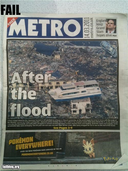 failboat,flooding,g rated,Japan,juxtaposition,news,Pokémon,probably bad enws