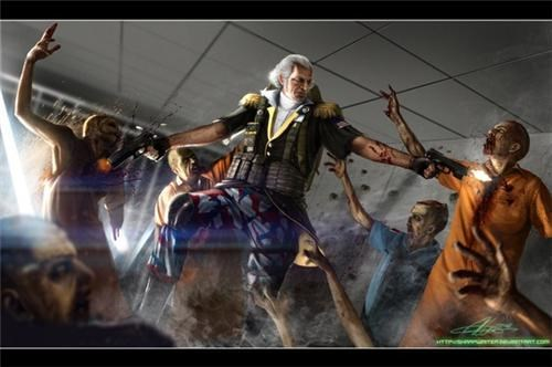Alt History,Fan Art,george washington,zombie