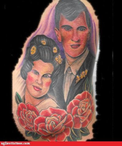 tattoos couples funny rouge - 4553941504