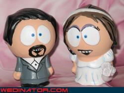 cake toppers funny wedding photos South Park wedding cake - 4553988608