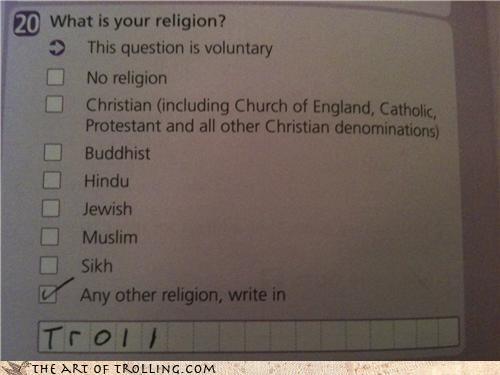 america census christian england IRL puns religion sikh troll - 4554253312
