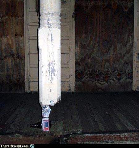 beer beer can column dangerous holding it up - 4554417408