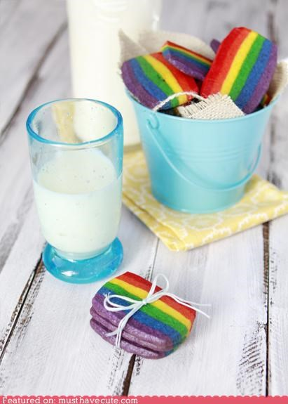 colorful epicute milk rainbow shortbread spring stripes - 4554521600