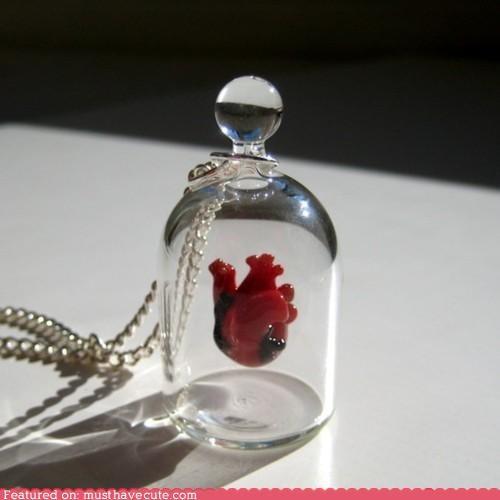 chain heart jar Jewelry necklace pendant - 4554523136