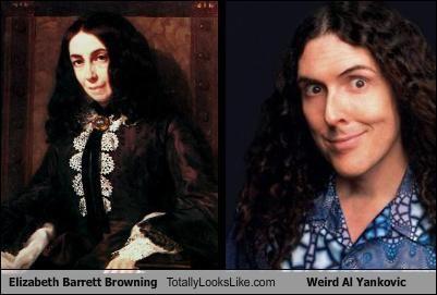 comedians Elizabeth Barrett Browning poets weird al Weird Al Yankovic writers - 4554644736