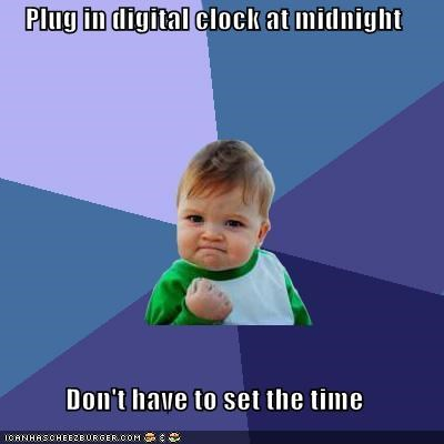 alarm clock,digital clock,midnight,plug it in,time is right