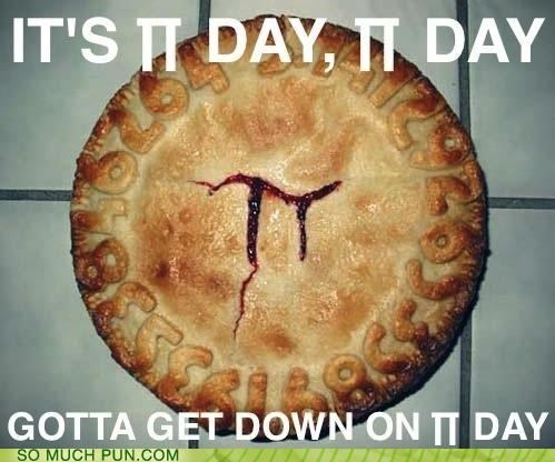 3.14,delicious,FRIDAY,holiday,homophone,march 14,meme,noms,parody,pi,Pi Day,pie,Rebecca Black,trending,viral
