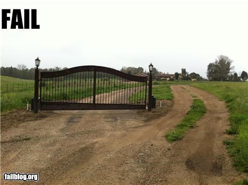drive right by it failboat gate g rated poor planning security - 4554986496