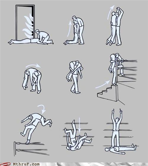 caution,Chart,emergency,escape,fire,How To,wrestle