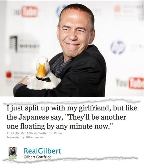 2011 Sendai earthquake,Aflac,End Of An Era,Gilbert Gottfried