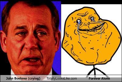 crying forever alone forever alone guy john boehner Memes orange - 4555376640