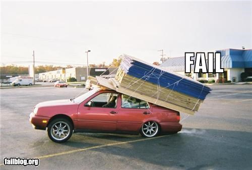 bad idea,cars,failboat,g rated,heavy load,safety