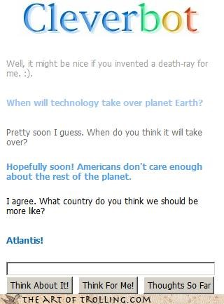 ... so we should sink into the sea and die?