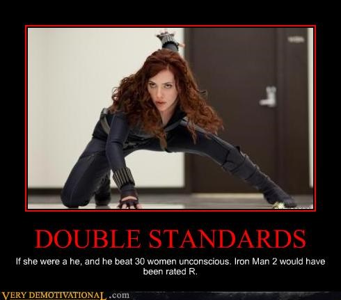 double standard iron man 2 Movie scarlet