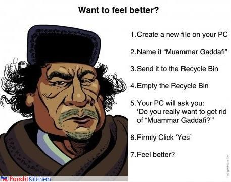 computers delete dictators libya muammar al-gaddafi technology - 4555622144