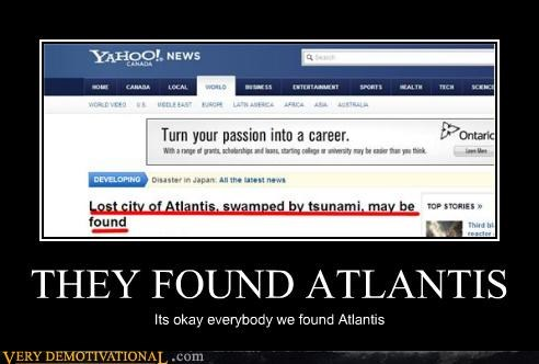 THEY FOUND ATLANTIS Its okay everybody we found Atlantis