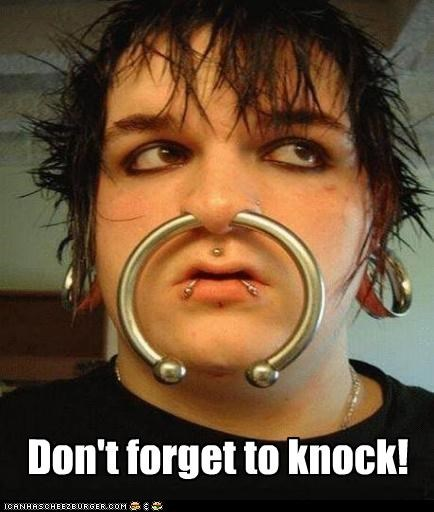 bull doorbell emo knocking piercings - 4556221696