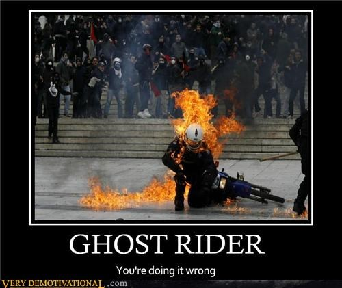 comics ghost rider on fire