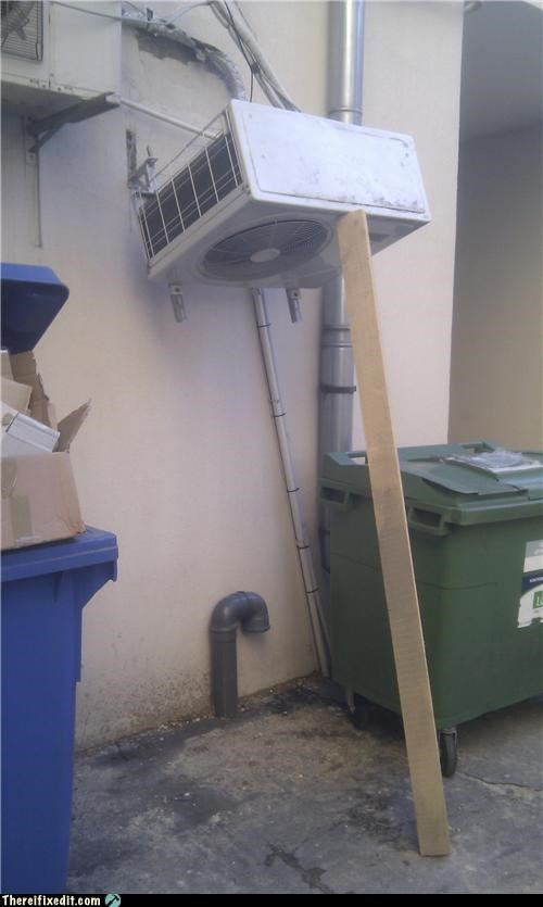air conditioner,europe,holding it up,Professional At Work