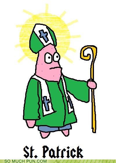 Fan Art,literalism,patrick,saint-patricks-day,SpongeBob SquarePants