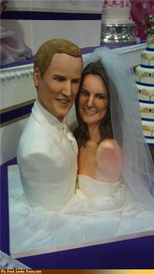 busts cake fondant funny wedding photos kate middleton prince william royal roundup royal wedding Royal Wedding Madness wedding cake - 4557416192