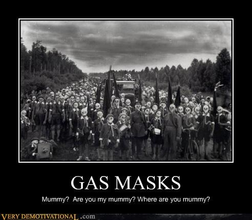 bizarre gas mask wtf