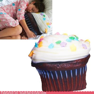 bed cupcake Pillow print sleep snuggle
