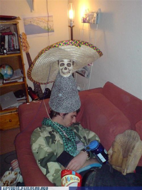 buddha,drunk,funny,hat,passed out,skull,stacking