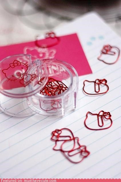 desk hello kitty Office paperclips stationary - 4558043136