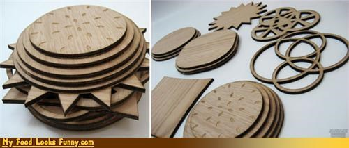 burger,laser cut,wood