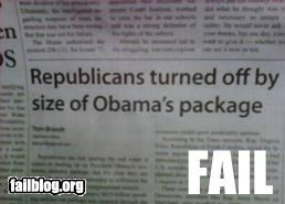 failboat innuendo newspaper obama packages Probably bad News Republicans wink - 4558204160