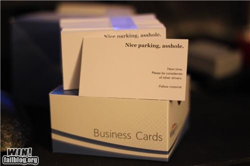business card,classy,driving,road rage