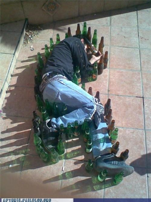 bottles,outline,passed out