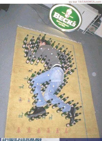 becks bottle drunk passed out prank