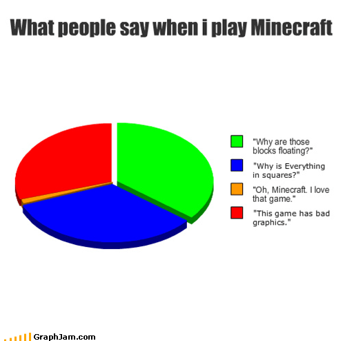 What people say when i play Minecraft