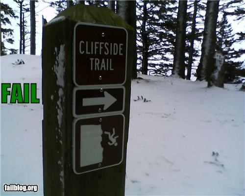cliffs dont-follow-that failboat g rated Hiking name outdoors signs trails - 4559385088
