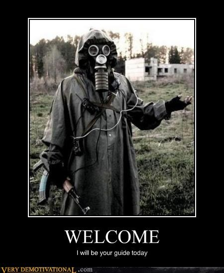 costume gas mask guide post apocalyptic