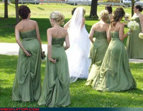 bridesmaid funny wedding photos St Patrick's Day wedgie - 4560674816