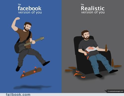 facebook vs reality,lol,truth hurts