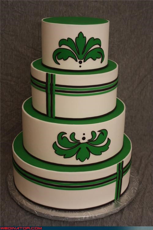 funny wedding photos St Patrick's Day wedding cake - 4560848640