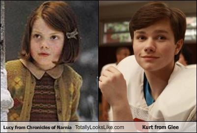 actors,chris colfer,chronicles of narnia,georgie henley,glee,narnia