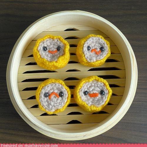 Amigurumi crochet dim sum food steamer basket - 4560958976