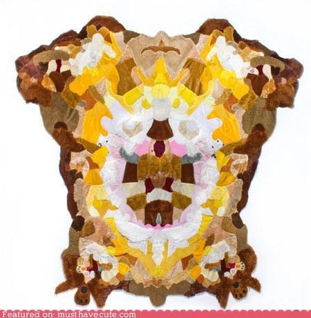 Plush rug skin teddy bears - 4560960768