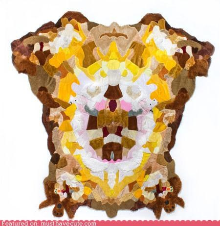 pelts Plush rug skin teddy bears - 4560960768