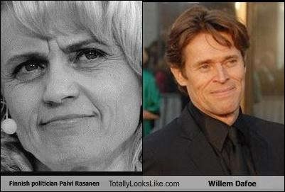 actors,Finland,finnish,Paivi Rasanen,politicians,Willem Dafoe