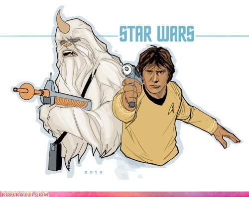 art,chewbacca,funny,Han Solo,sci fi,Star Trek,star wars