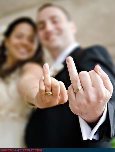 bride funny wedding photos groom wedding rings - 4561812480